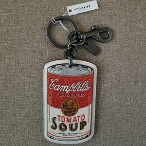 Coach Campbell Tomato Soup Key Chain Bag Charm